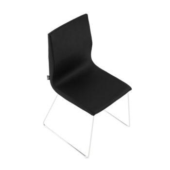 Chaise d'attente noir avec pied léger en métal et assise confortable
