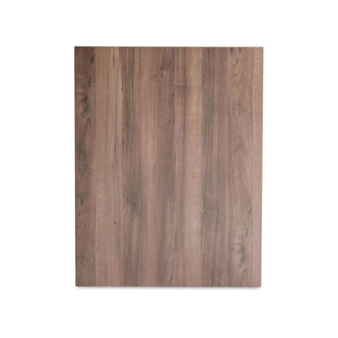 meuble caisse de réception, en bois stratifié effet naturel avec multiples rangements