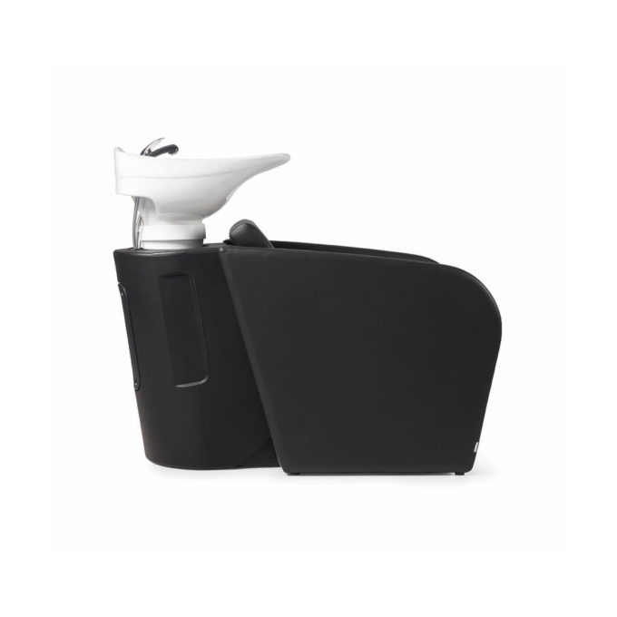 bac à shampoing avec évier inclinable blanc, skai au choix