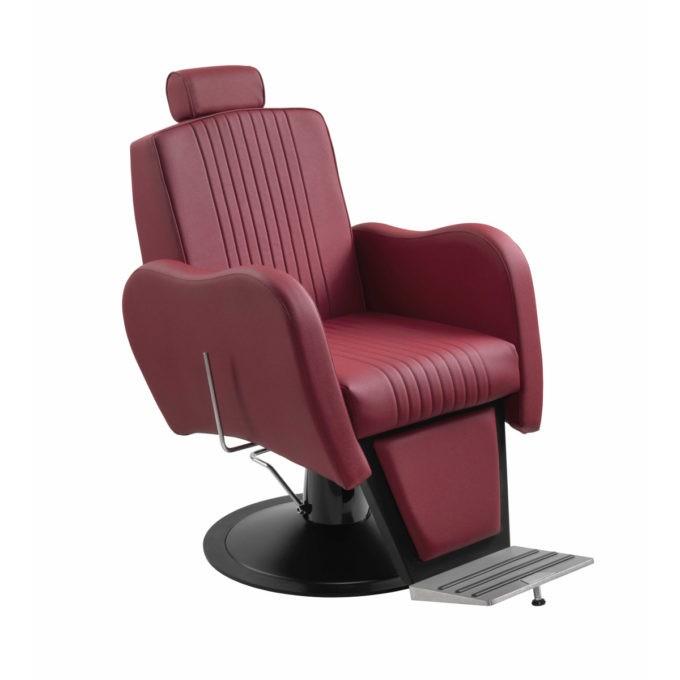 fauteuil de barbier rouge