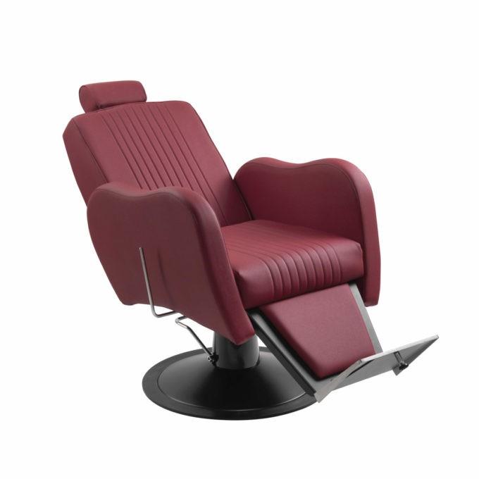 fauteuil barber shop inclinable rouge et noir