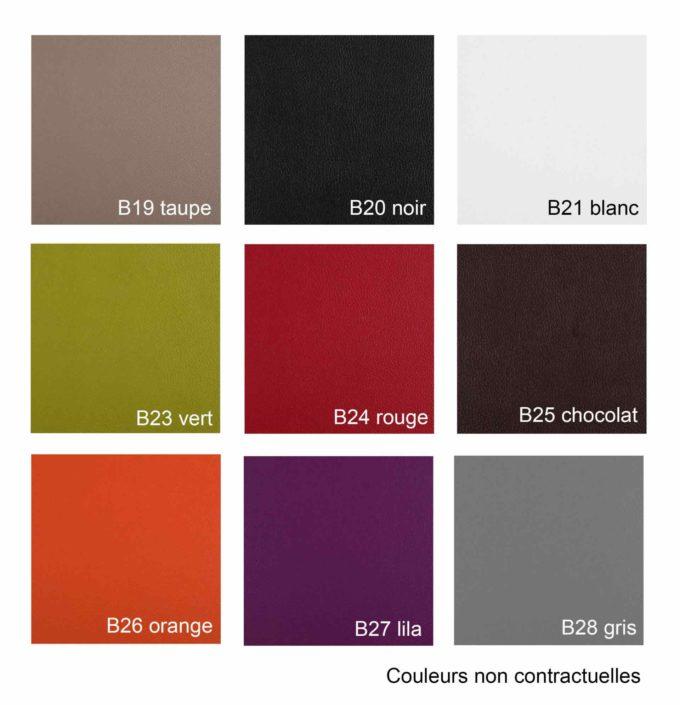 Revêtements similicuir 9 couleurs aux choix pour bac, fauteuil de coiffure et attente