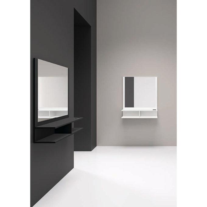 poste de coiffure noir ou blanc mural
