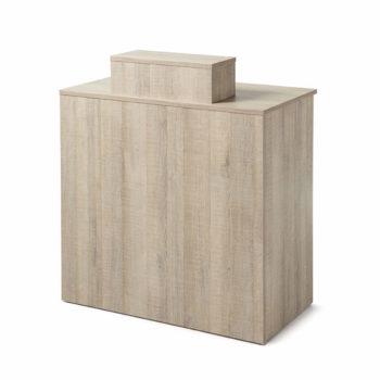 meuble comptoir de réception caisse couleur bois naturel