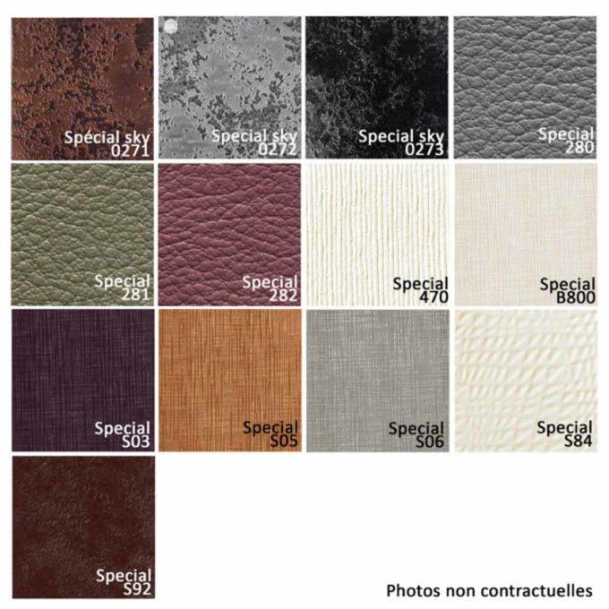 Nuancier 13 couleurs de texture similicuir pour bac et fauteuil de salon de coiffure