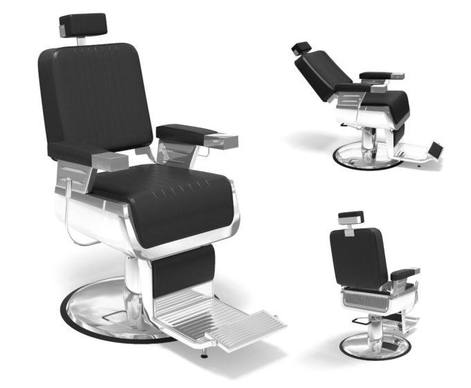 siège de barbier inclinable, réglable en hauteur, appuie tête extensible
