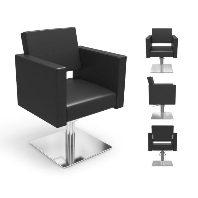 fauteuil noir pied carré