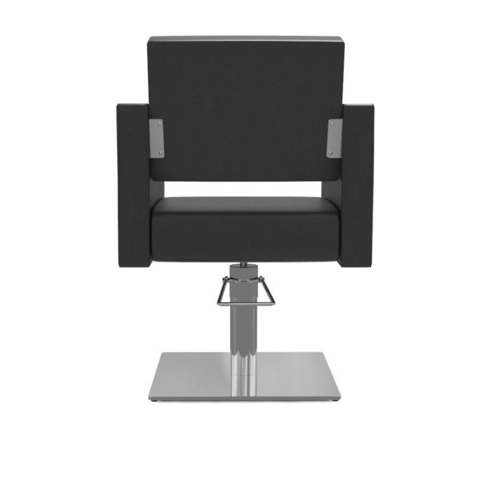 fauteuil noir rectangle avec pied carré en métal