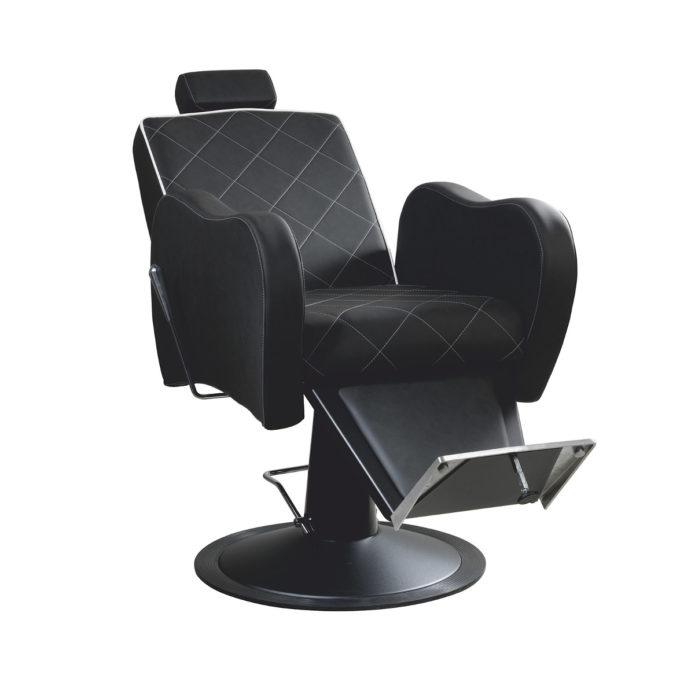 fauteuil barbier noir moderne et robuste