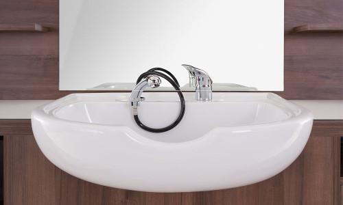 lavabo en céramique de poste de barbier