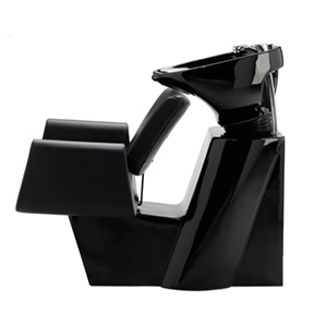 bac de la lavage noir brillant et skai
