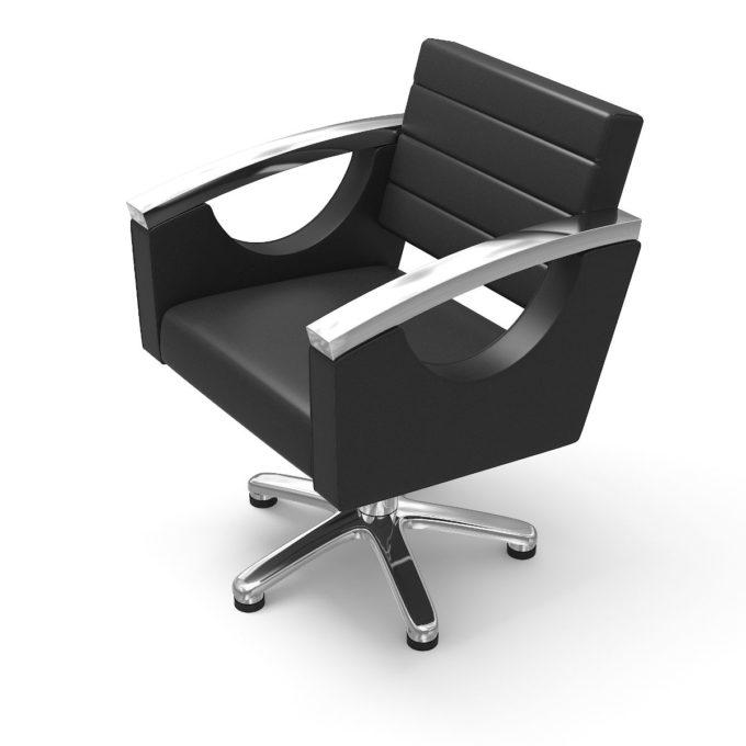 fauteuil avec accoudoirs chromé pied étoile