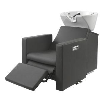 bac à shampoing avec repose jambes électrique adapté pour les PMR