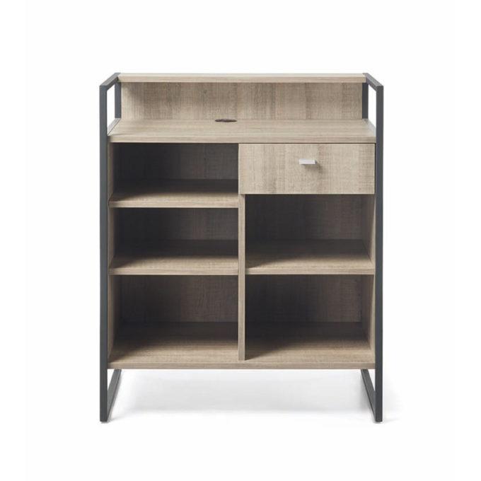 meuble réception avec tiroir et rangements