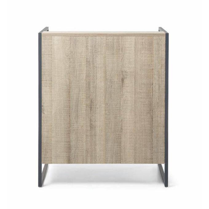meuble de réception caisse simple bois et métal