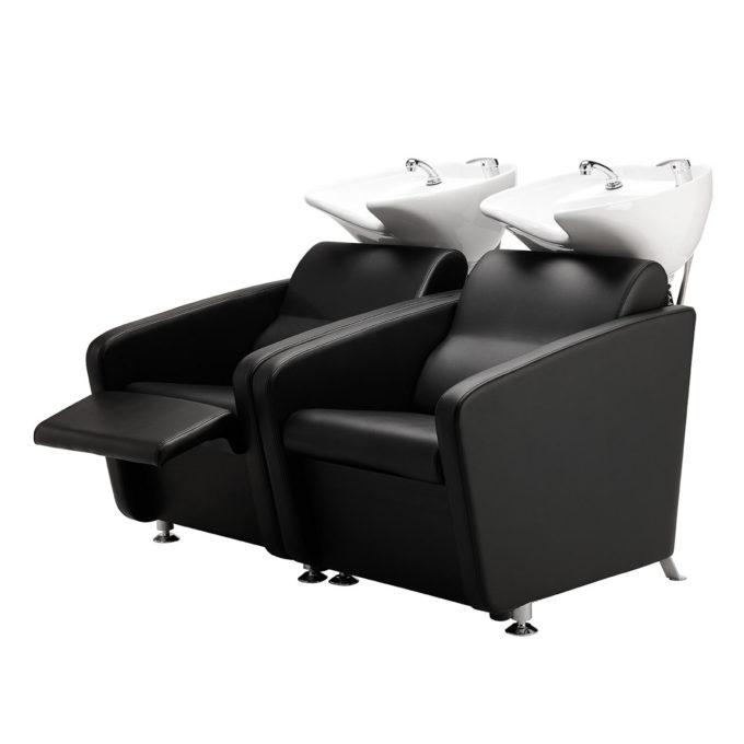 bac de lavage économique noir avec relax et pieds