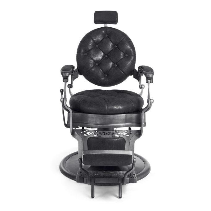fauteuil barbier avec appuie tête extensible noir