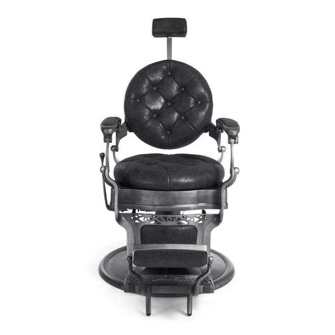 fauteuil barbier avec appuie tête extensible