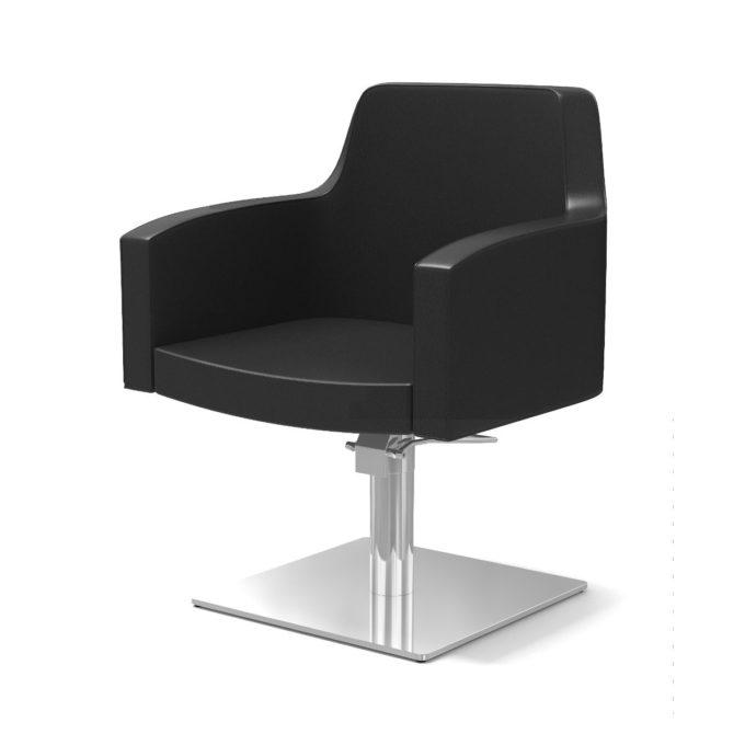 Chaise de coiffeur noir pied carré