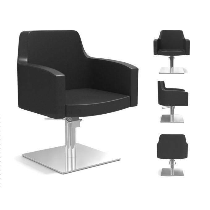 Chaise de coiffure noir