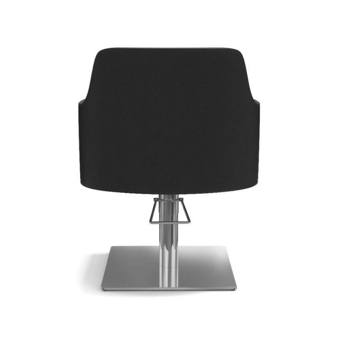 fauteuil noir en pvc avec pied carré