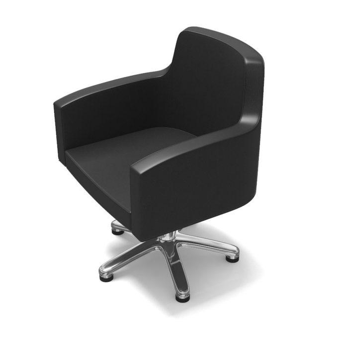 fauteuil de coiffure noir avec pied étoile