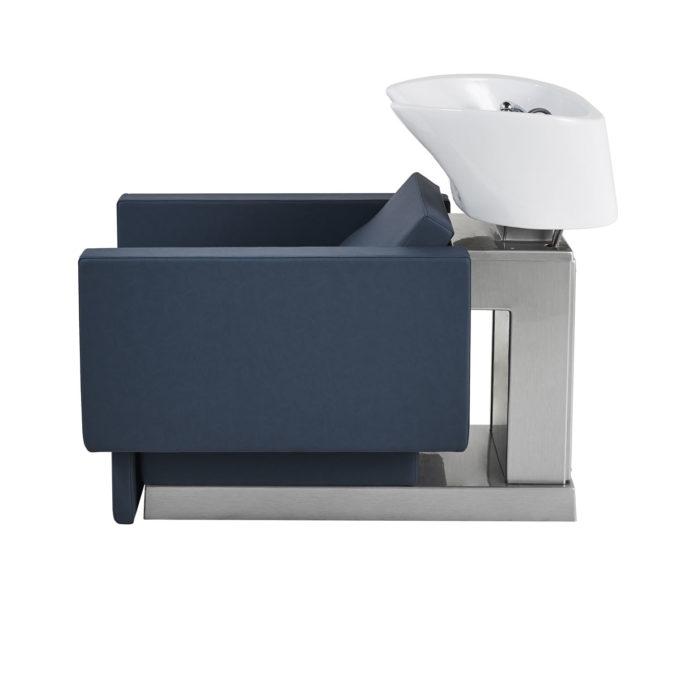 Bac de lavage contemporain forme rectangle avec socle argenté