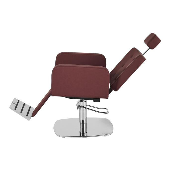 Fauteuil de barbier bordeaux inclinable design moderne réglable en hateur