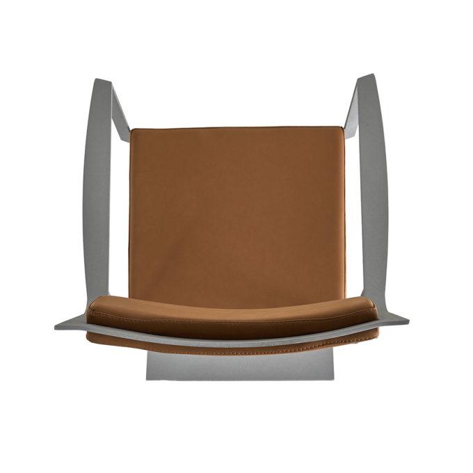 fauteuil de coiffure en skai marron
