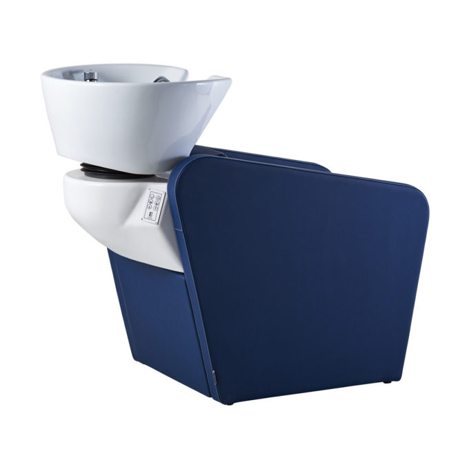 bac de lavage confortable bleu