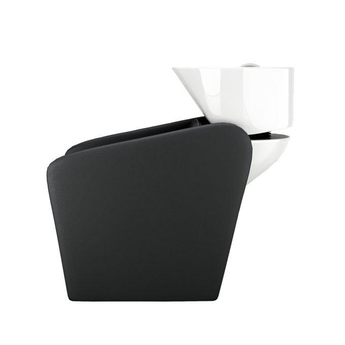 bac de lavage noir avec évier blanc