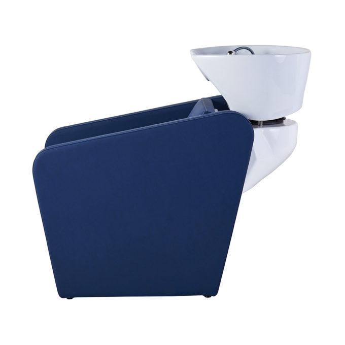bac de lavage bleu avec évier blanc en céramique