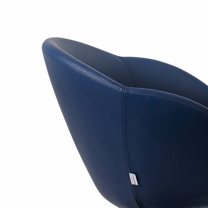 fauteuil coiffure pvc bleu foncé