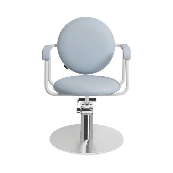 fauteuil pour coiffeur bleu réglable en hauteur