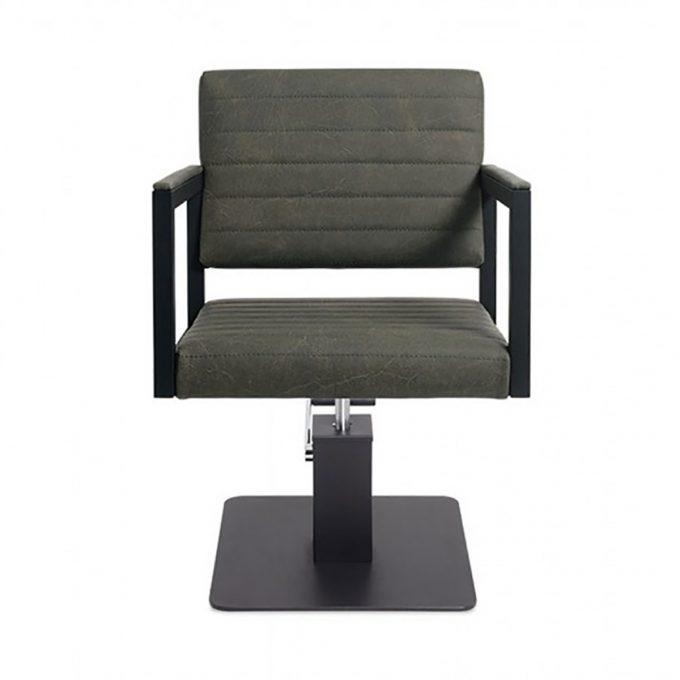 fauteuil structure en métal noir pied carré