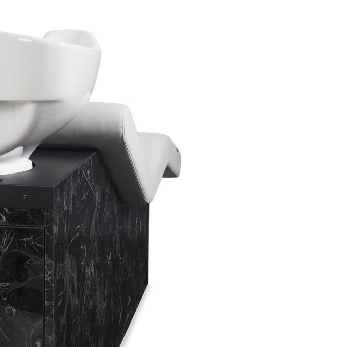 bac de lavage élégant marbre noir