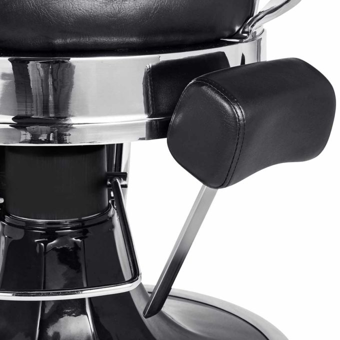fauteuil confortable de barbier rétro