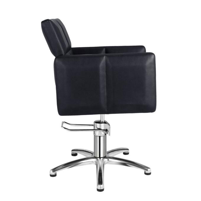 fauteuil élégant noir carré avec piètement étoile