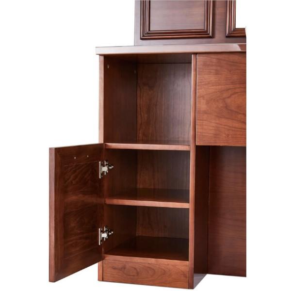 meuble barbier rangement avec portes et compartiments