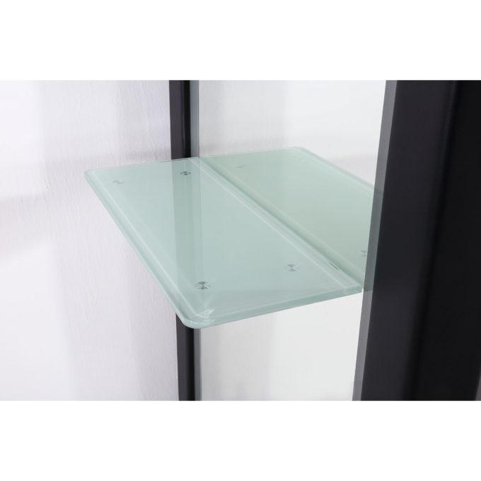 Coiffeuse avec tablette en verre renforcé