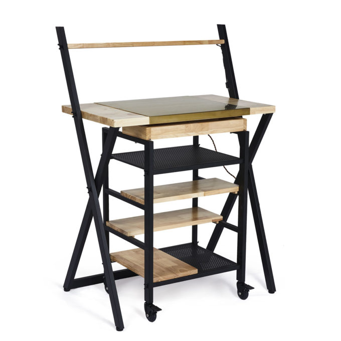 table et meuble de rangement peux spacieux