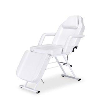 Fauteuil de pédicure réglable en hauteur, dossier et assise et repose jambes manuellement