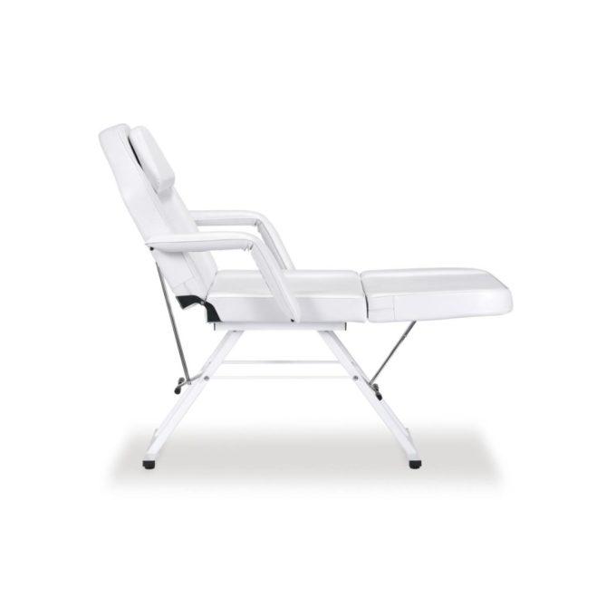 fauteuil de pédicure blanc avec accoudoirs