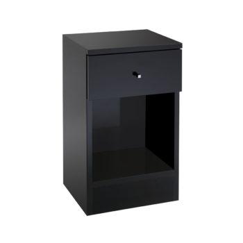 Meuble de rangement noir avec un tiroir