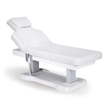 Lit de massage électrique avec 4 moteurs pour régler la hauteur, assise et dossier et repose-pieds