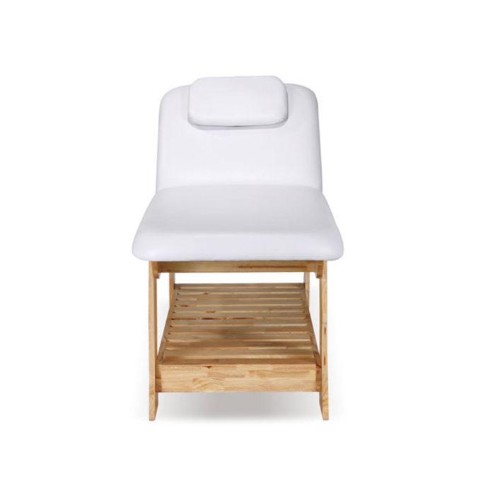 lit de massage en bois brut