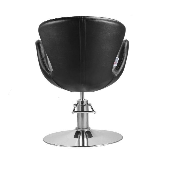 fauteuil de coiffure assise large pied rond
