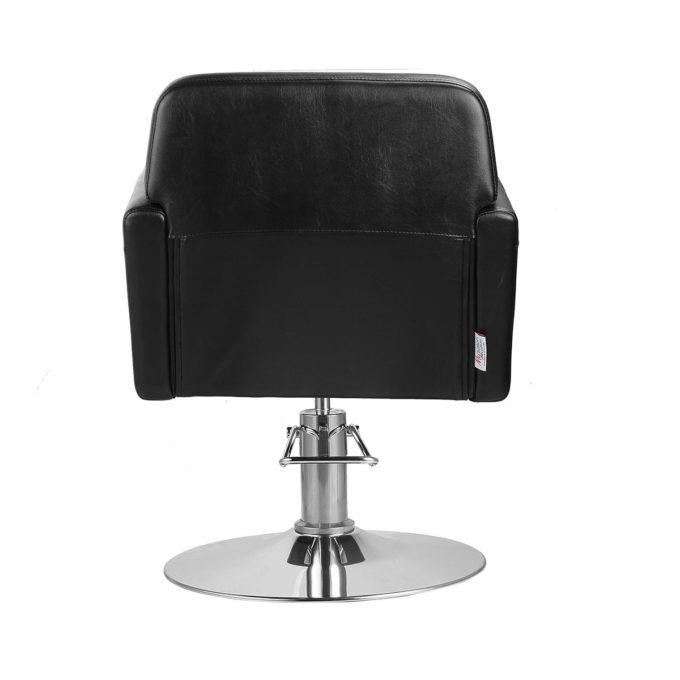 fauteuil de coiffure large noir et blanc