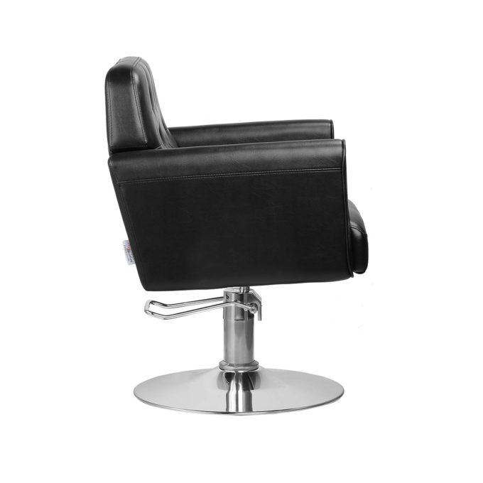 fauteuil de coiffure profond et confortable noir et blanc