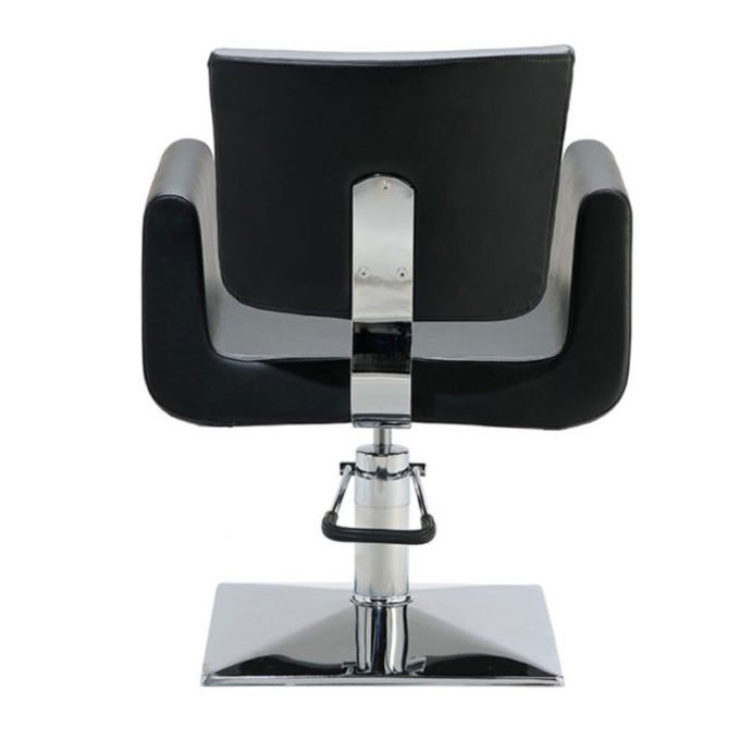 arrière siège coiffure en skaï noir